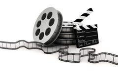 panneau de clapet 3d et petit pain de film Photos libres de droits