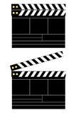 Panneau de clapet de film Photographie stock libre de droits