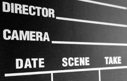 Panneau de clapet de film Images libres de droits