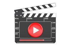 Panneau de clapet de film de Digital, concept de cinéma rendu 3d Photos libres de droits