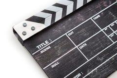 Panneau de clapet en bois d'isolement sur le fond blanc Photographie stock
