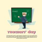 Panneau de classe d'école d'homme de Day Holiday Senior de professeur Images libres de droits