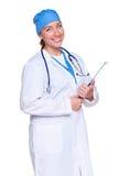 Panneau de clip de fixation de docteur Images libres de droits