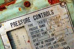 Panneau de commande d'indicateur de pression Images libres de droits