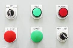 Panneau de commande de bouton de commutation photo libre de droits