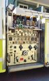 Panneau de commande de camion de pompiers photo libre de droits