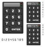 Panneau de commande de clavier numérique de garantie Photo stock