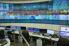 Panneau de commande de contrôle central un tunnel d'automobile Image libre de droits