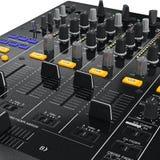 Panneau de commande de mélangeur du DJ, vue étroite Photo stock