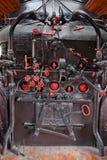 Panneau de commande de machine à vapeur photo libre de droits