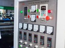 Panneau de commande de machine de soufflement Photographie stock