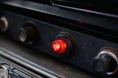 Panneau de commande noir dans une voiture russe images libres de droits