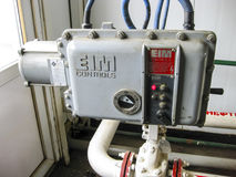 Panneau de commande pour ouvrir et fermer la valve Photographie stock