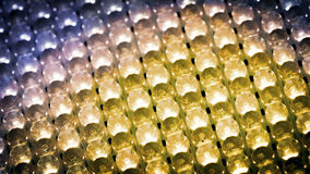 Panneau de couleur avec l'ampoule de LED photographie stock libre de droits