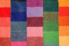 Panneau de couleur des échantillons de tapis Photographie stock libre de droits