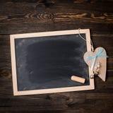 Panneau de craie avec le coeur Photo stock