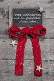 Panneau de craie avec le message de Joyeux Noël Images stock