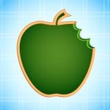 Panneau de craie de forme d'Apple Photographie stock libre de droits