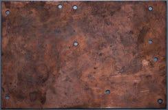 Panneau de cuivre Images libres de droits