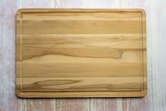 Panneau de découpage en bois Image stock