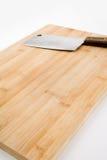 Panneau de découpage et couteau de cuisine photo stock