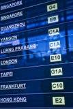 Panneau de déviation d'aéroport Images stock