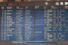 Panneau de déviation d'aéroport Photo stock