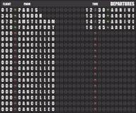 Panneau de déviation - illustration d'aéroports de destination Illustration Stock