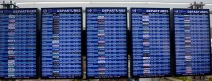 Panneau de déviations de vol Image libre de droits