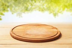 Panneau de d?coupage en bois photo stock