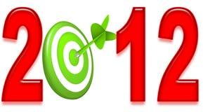 panneau de dard 2012 Image libre de droits