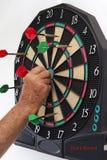 Panneau de dard avec des dards Image stock