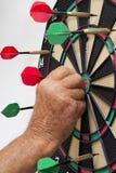 Panneau de dard avec des dards Photographie stock