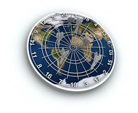 Panneau de dard de carte de la terre Photo libre de droits