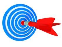 Panneau de dards avec la flèche illustration libre de droits