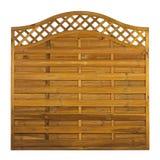 Panneau de fance de jardin de bois de construction Images stock