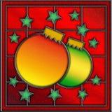 Panneau de fenêtre de Noël en verre souillé Images stock