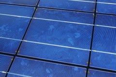 panneau de groupe solaire Photographie stock