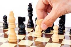 Panneau de jeu d'échecs Photos stock