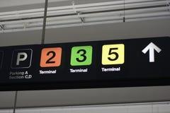 Panneau de l'information d'aéroport Image stock
