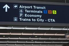 Panneau de l'information d'aéroport Images stock