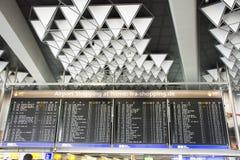 Panneau de l'information d'aéroport international Francfort, Allemagne de Francfort Photo libre de droits