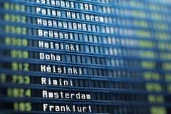 Panneau de l'information de vols Photo stock