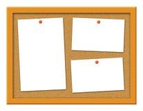 Panneau de liège avec l'illustration courbée de notes Images libres de droits
