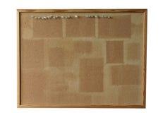 Panneau de liège - d'isolement Image stock
