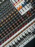 Panneau de mélange de studio d'enregistrement Images stock