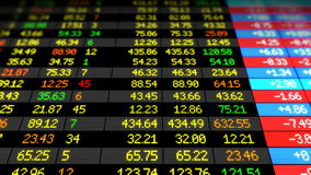 Panneau de marché boursier se relevant HD 1080 Belle animation 3d faite une boucle Vidéo de concept d'affaires clips vidéos