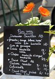 Panneau de menu de vin Photo libre de droits