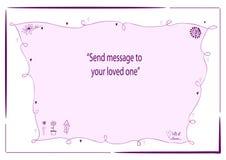 Panneau de message Photo stock