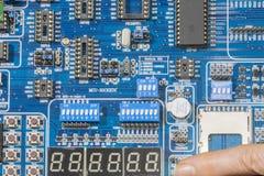 Panneau de microcontrôleur photo stock